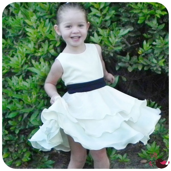 Lily Bird Studio PDF Sewing Pattern - Maddies Dress - 12 mths to 8 yrs - circle skirt, 3 or 4 layers wide twirly skirt, girls, flower girl. $6.90, via Etsy.