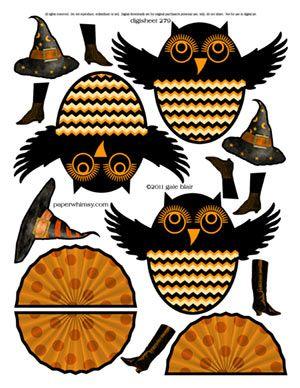cute Halloween owls