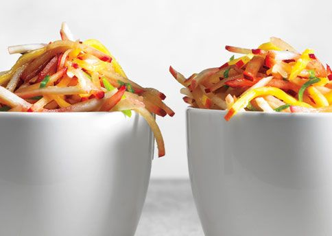 Stone Fruit Slaw; this is *perfect* for using up underripe fruit in the Summer!