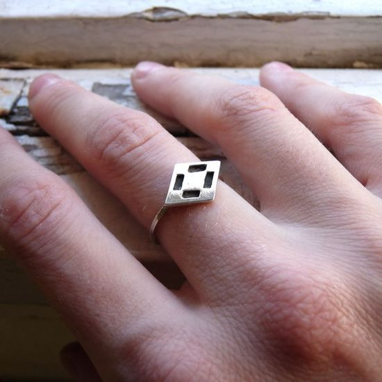 Diamond ring  Sterling silver  Made to order in your by aforfebre