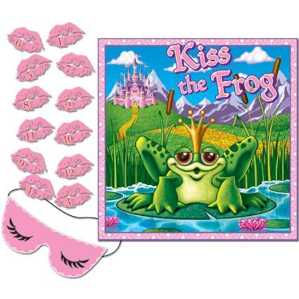 Amazon.com - Kiss The Frog Party Game (mask & 12 lips included) Party Accessory (1 count) (1/Pkg)