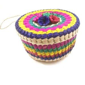 handmade Tortilla Straw Basket, imported from Mexico.  $11.50. Will keep the tortillas warm for my guests.