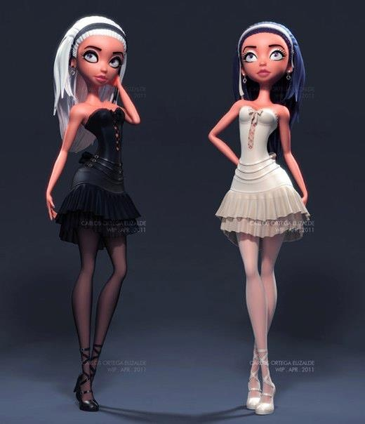 3d-pin-up-character-design (9). Carlos Ortega Elizalde, a Mexican 3D modeler, and a 3D graphic designer currently working at Universidad de Guanajuato. Here's a collection of beautiful 3D character illustrations and pin-up designs created by him.