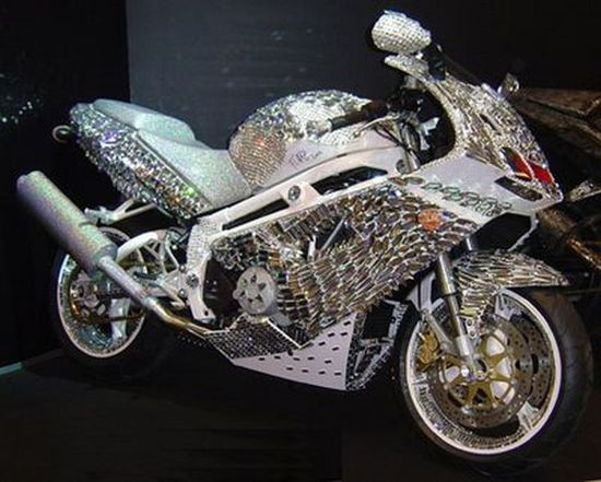 handmade diamond Ducati motorcycle, with cost estimated at about $4,800,000!