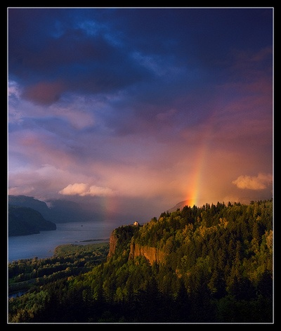 Crown Point Lookout, Columbia River Gorge, Oregon
