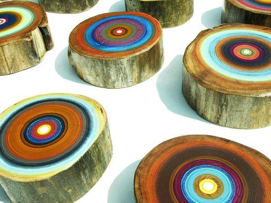 Tree ring paintings