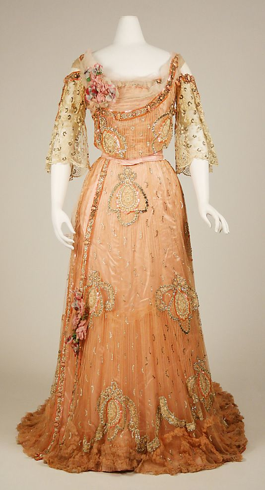 Ball Gown  French, 1900-03