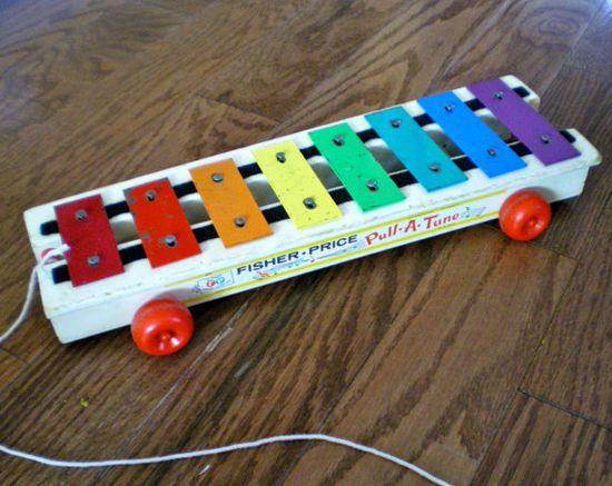 #Vintage #Childhood #Toys #Xylophone