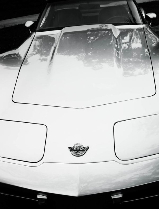 Vintage Chevrolet Corvette Black & White Fine