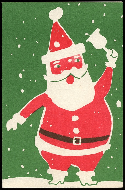 Santa Claus Christmas Card, 1950s
