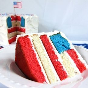 love this flag cake! #patriotic #cake #how_to #DIY #recipe #4th_of_July