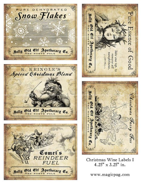 Antique Christmas Gift Tags
