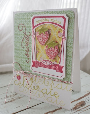 Birthday Card by Michelle Wooderson for Papertrey Ink (April 2012)