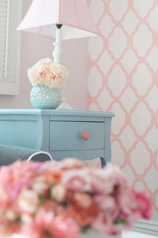 Perfect colors and I obsess over the wall pattern