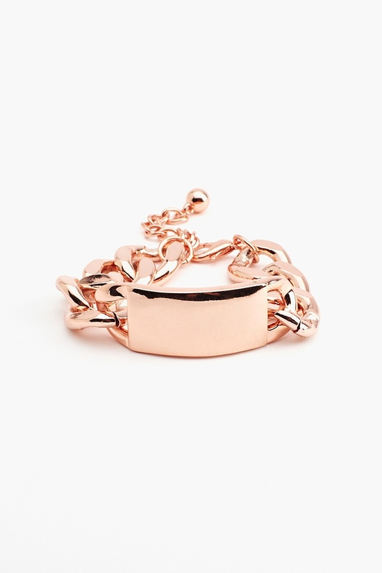 New Identity Bracelet in Rose Gold
