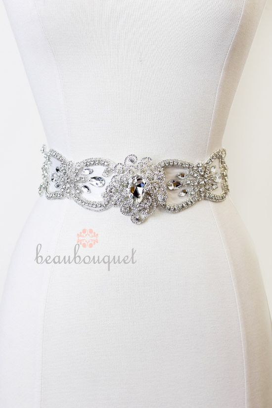 ****Bridal Sash Wedding Sash Belt Crystal Rhinestone Bridal Belt MARIE - ON SALE. $125.00, via Etsy.