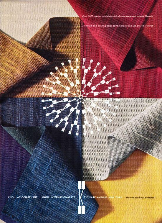 Herbert Matter designed Knoll Fabrics Ad