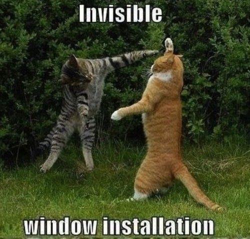 Invisible window installation