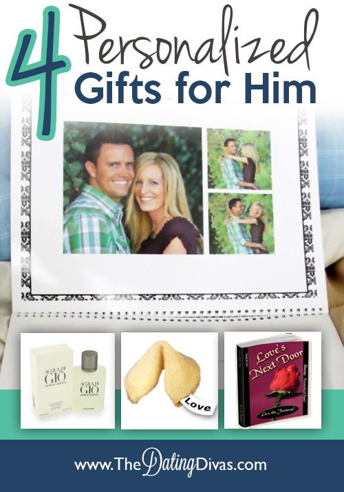 Need a gift idea for your man?  Check out these 4 personalized ideas for an extra meaningful present. www.TheDatingDiva... #fathersday #anniversary #giftforhim