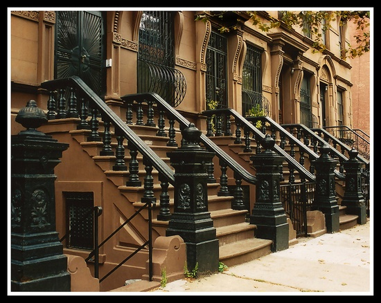 Old Brownstones in New York City