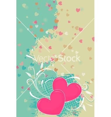 Romantic valentine background vector on VectorStock®