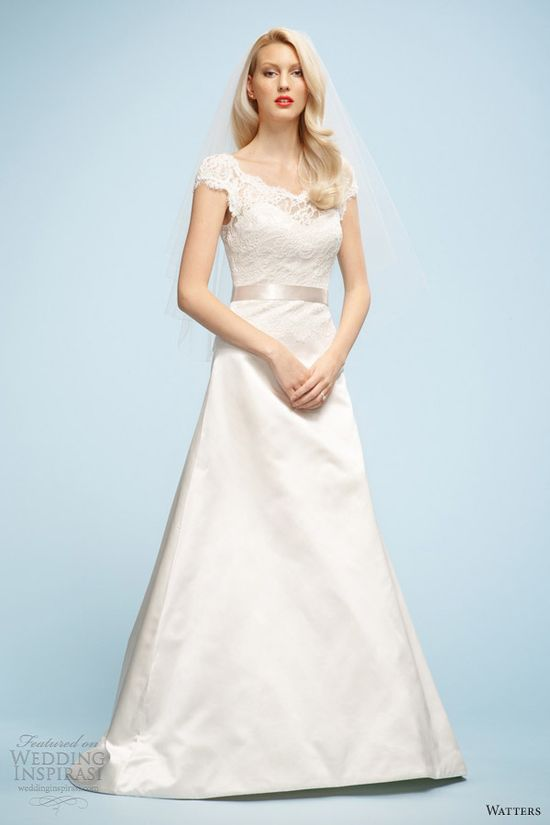 watters wedding dresses 2013 lydia cap sleeve gown