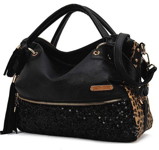 sequined tassel handbag