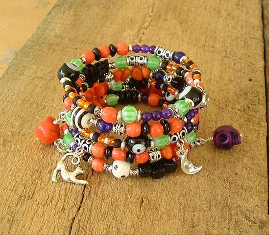 Boho Bracelet Halloween Jewelry Bohemian Style by BohoStyleMe