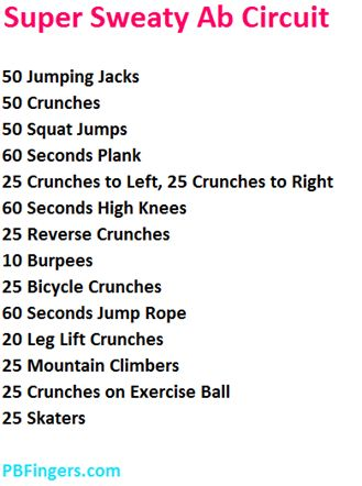 workout focused on cardio and core