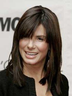 Sandra Bullock Medium Hair Style