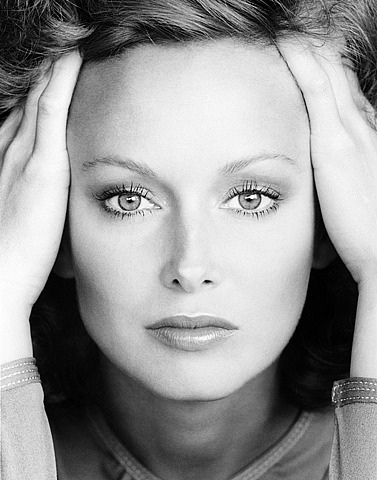Karen Graham, Estee Lauder's exclusive spokesmodel from 1973-1980, photo by Victor Skrebneski
