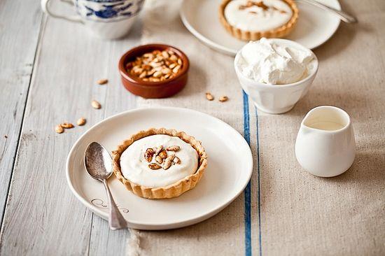 Tartelette: Drunken Pumpkin Bourbon Tart With Mascarpone Cream from Tartelette
