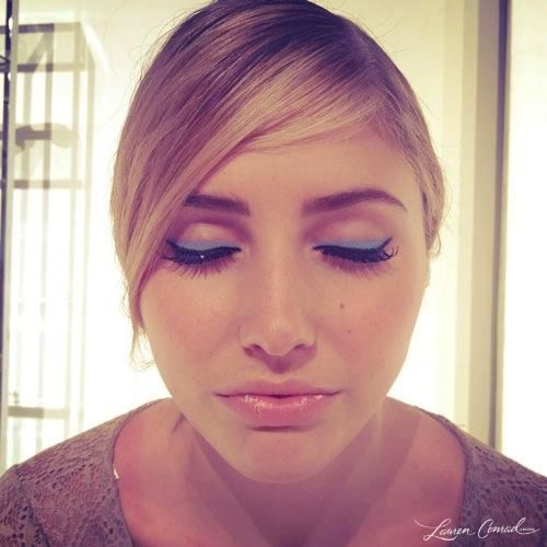 The makeup look at Alice + Olivia Spring 2013 #FashionWeek #Beauty