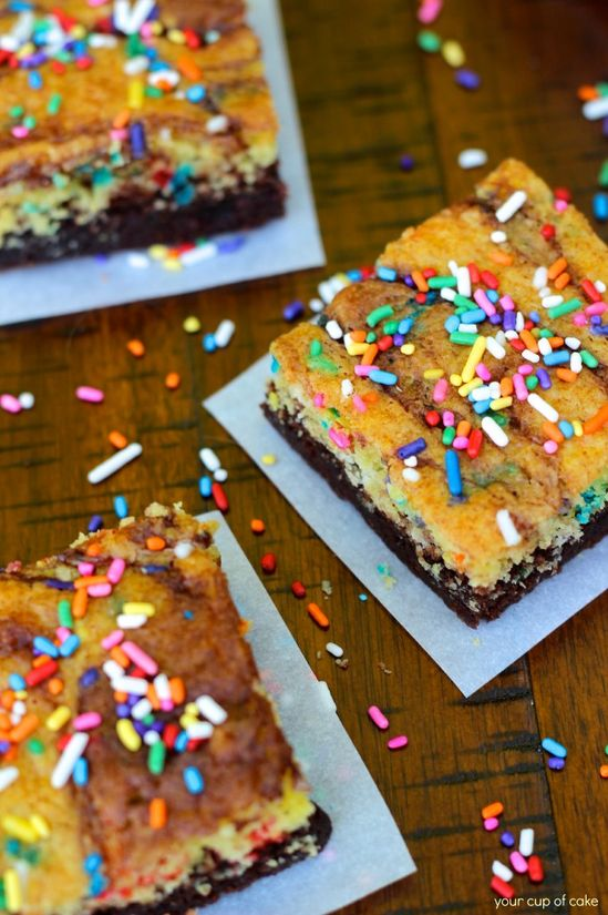 Cake Batter Brownie Recipe