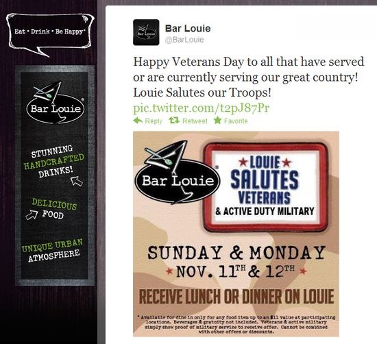 Bar louie's coupons