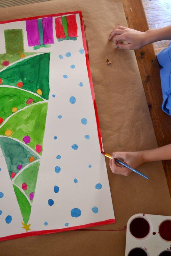 Giant Christmas Tree Paintings - Art Bar