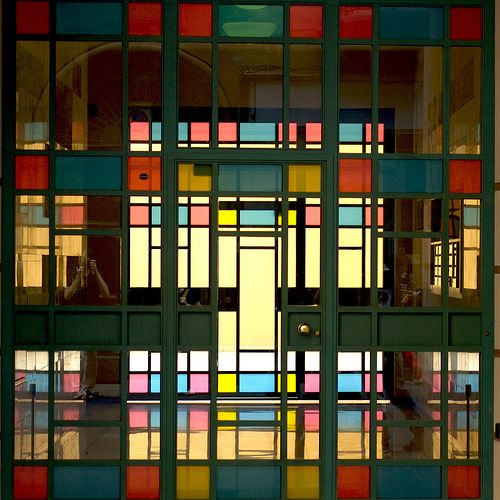 Colorful Glass Doors