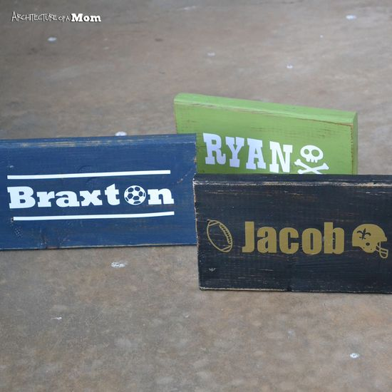 Rustic Personalized Signs #diy #gifts #silhouettecameo