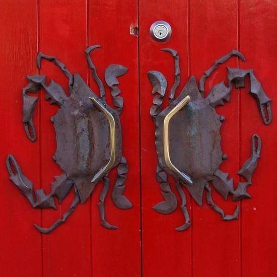 Red Door with Crabs
