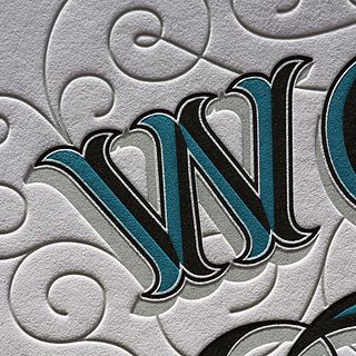 """how gorgeous is this """"w"""" alone? check out the rest of this gorgeous typographic letterpress print"""