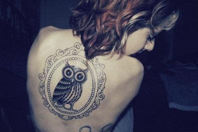 Owl tattoo on the back. #tattoo #tattoos #ink