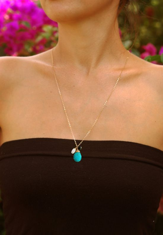 maybe turquoise jewelry for the bridesmaids?