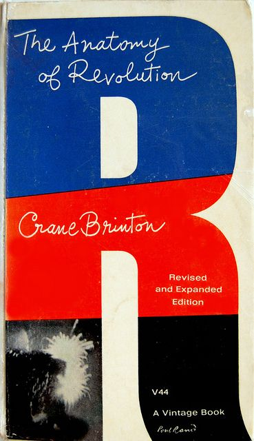 Paul Rand: Book cover design by Paul Rand for The Anatomy of Revolution by Crane Brinton.  New York: Vintage Books, 1965. JC491.B7 A5 1965