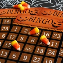 Free printable Halloween bingo cards for your Halloween party games.