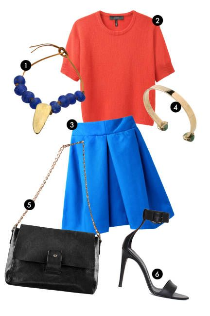 Easy colorblock, everything else basics in black or blue