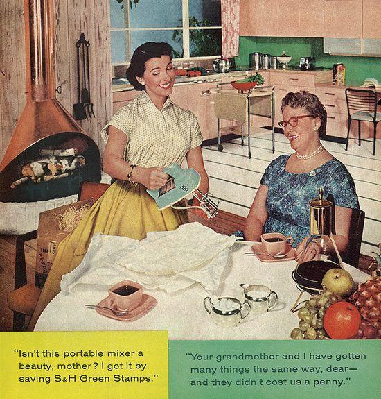 It sure is, dear! #vintage #1950s #kitchen #homemaker