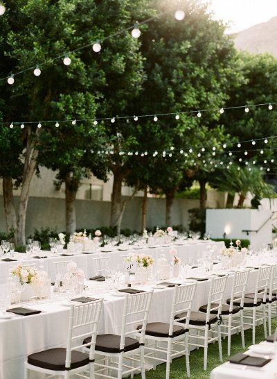 classic outdoor reception in Palm Springs