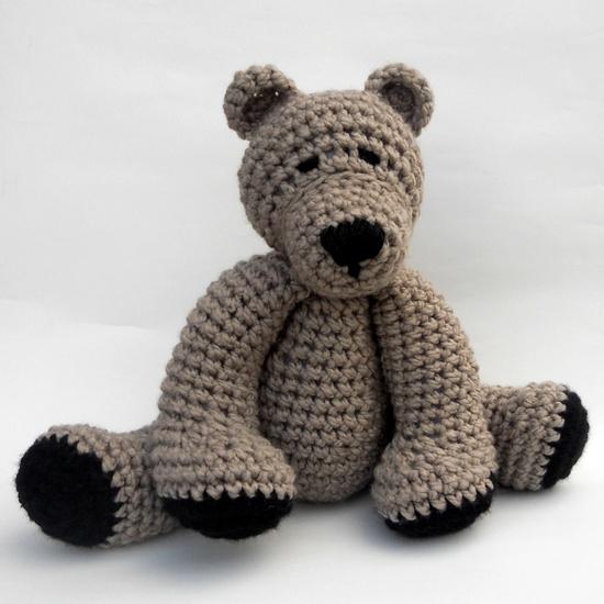 Crochet Teddy Bear SUPER SOFT. $25.00, via Etsy.
