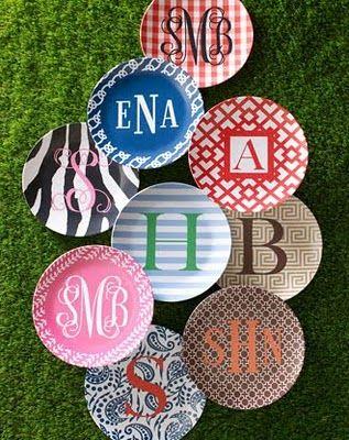 monogram plates