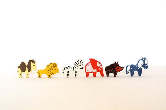 Super cute wooden animals